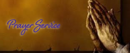 Prayer Service signage