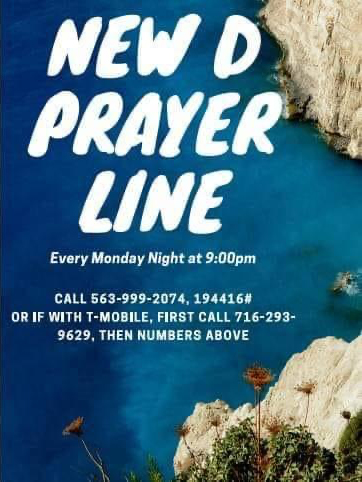 New D Prayer line graphic