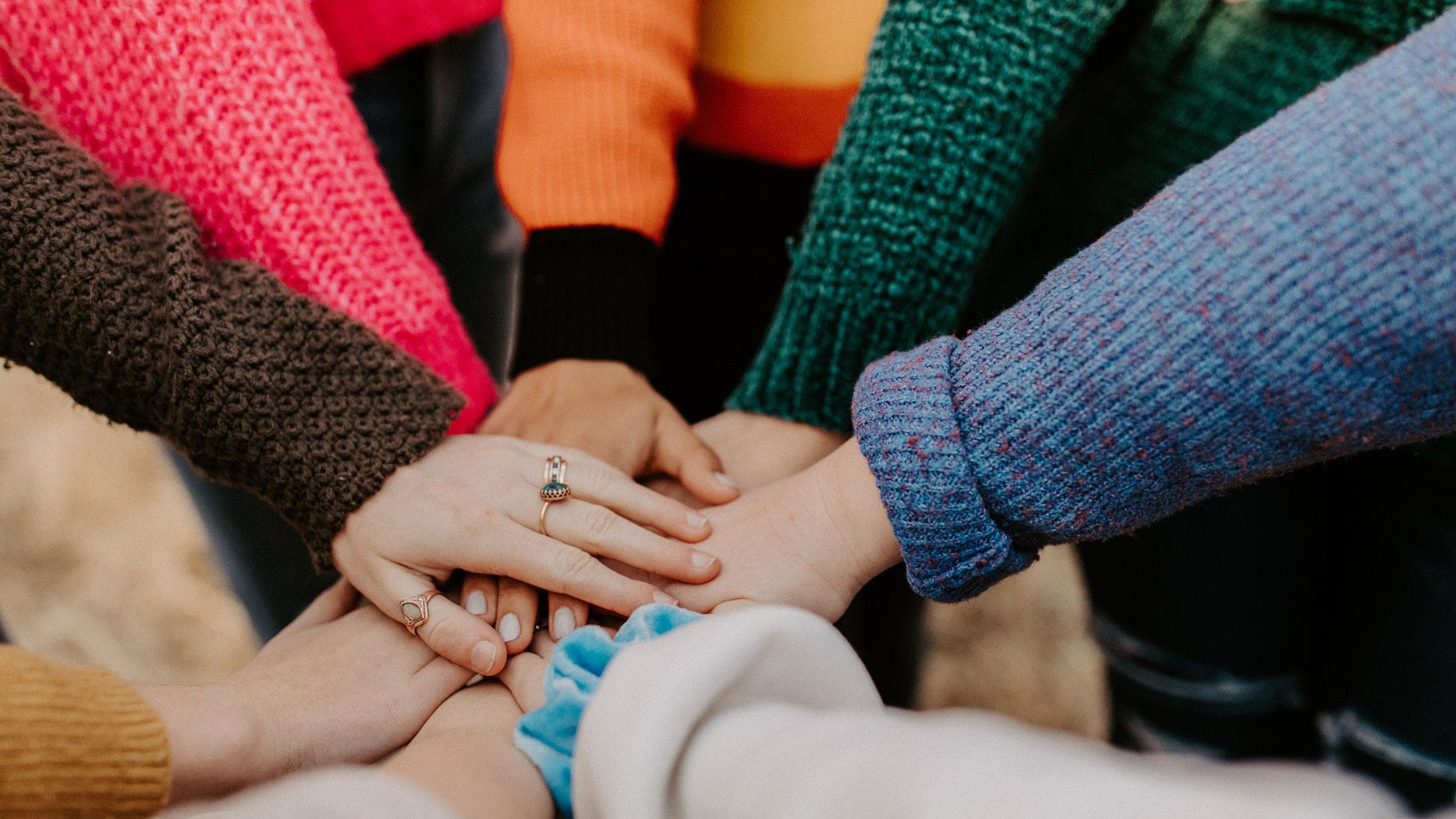 women's diverse hands